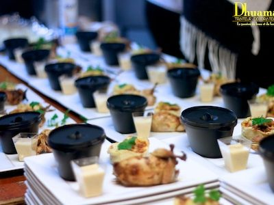 Caille farcie au foie gras et gratin dauphinois, dhuama traiteur africain